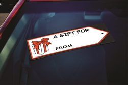 Windshield Gift Tag Decals