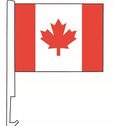 Clip-On Car Window Flags - Canada Flag