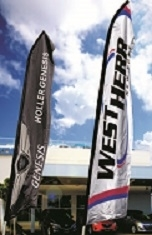 Custom Swooper Flags - Double Sided (Ground Spike)