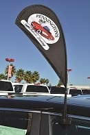 Custom Clip-On - Paddle Flags