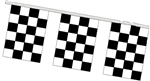 Checkered Racing Flags - 60 ft String