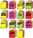 Fluorescent Mirror Rear View Hang Tags