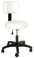 Round Air-Lift Stool with Backrest