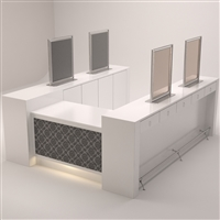 Grayson Styling Bar w/Reception Desk