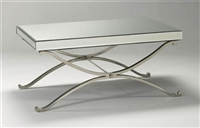 Mirrored Glass Vogue Coffee Table  - Salon & Spa Reception
