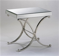 Modern Vogue Mirror Side Table for Salon & Spa Design