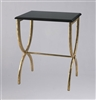 Black & Gold Accent Table: Salon & Spa Reception & Waiting