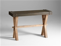 Mesa Console - Modern Wooden Bench with a Metal Seat for Spas & Salons
