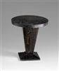 Brazos Foyer Table - Dark Wooden Rounded Side Table for Spas & Salons
