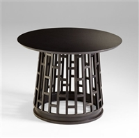 Paulo Foyer Table -Dark  Modern Wooden Side Table for Spas & Salons