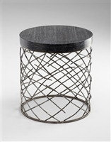 Marlow Table - Modern Iron or Wooded Side Table with a Raw Steel Finish for Spas & Salons