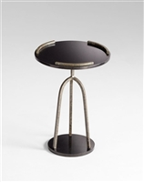 Ziggy Table - Sleek Iron or Black Granite Side Table with a 3 Pronged Stem for Spas & Salons