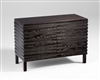 Boyce Cabinet - Modern Wooden Black Limed Finish Storage Cabinet with Front Facing Doors for Spas & Salons