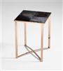 Wooden Bronze Finished Modern Realty End Table for Salon & Spa