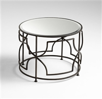 Iron & Glass Old World Edged Rhombus Table for Salon & Spa