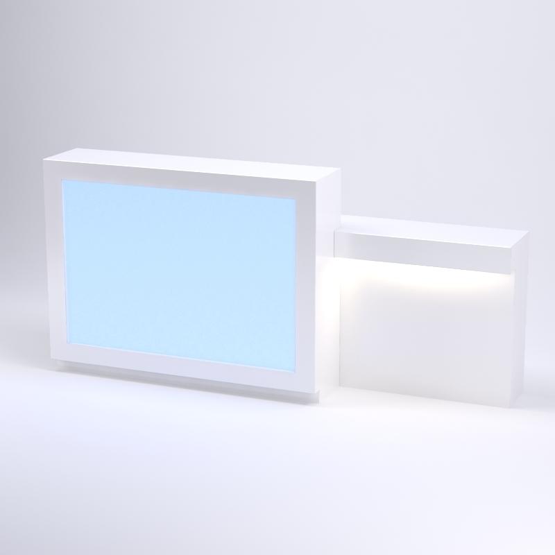 Illuminated 48 Inch Glow Reception Desk For Salon Spa