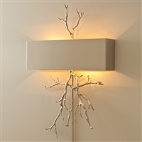 Twig Nickel Wall Sconce