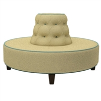 Round Banquette  with Diamond Tufted Back