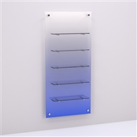Ombre Resin Retail Wall Panel with Floating Glass Shelves