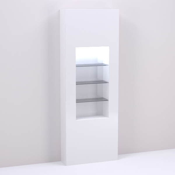 32 Inch Retail Shelving Wall Display Niche For Salon Spa Design