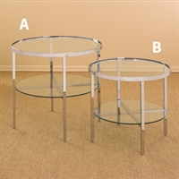 Glass Display Tables