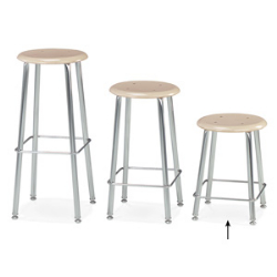 "Virco 12118 - 120 Series Stool with Hard Plastic Seat, Steel Frame - 18"" Seat Height  (Virco 12118)"