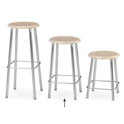 "Virco 12124 - 120 Series Stool with Hard Plastic Seat, Steel Frame - 24"" Seat Height  (Virco 12124)"