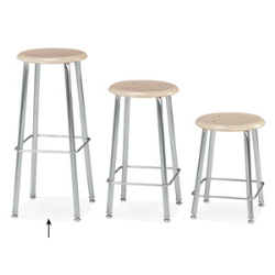 "Virco 12130 - 120 Series Stool with Hard Plastic Seat, Steel Frame - 30"" Seat Height  (Virco 12130)"