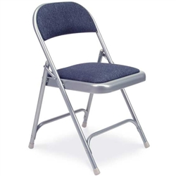 Virco 188 - Premium Steel Folding Chair with Fabric Upholstered Seat and Back  (Virco 188)