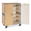 "Virco 2501 - Mobile Storage Cabinet With Four Shelves - 48"" x 28"" x 66"" (Virco 2501)"