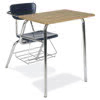 "Virco 3400BRL - Combo Desk with 18"" Hard Plastic Seat, 18"" x 24"" Laminate Top, bookrack  (Virco 3400BRL)"