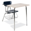 "Virco 3400BRM - Combo Desk with 18"" Hard Plastic Seat, 18"" x 24"" Hard Plastic Top, bookrack  (Virco 3400BRM)"