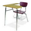 "Virco 3400LABRL - Combo Desk with 18"" Hard Plastic Seat, 18"" x  21"" x 30"" Hard Plastic Top with Arm support, bookrack(Virco 3400LABRL)"
