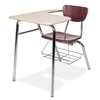 "Virco 3400LABRM - Combo Desk with 18"" Hard Plastic Seat, 18"" x  21"" x 30"" Hard Plastic Top with Arm support, bookrack  (Virco 3400LABRM)"