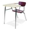 "Virco 3400LANBRM - Combo Desk with 18"" Hard Plastic Seat, 18"" x  21"" x 30"" Hard Plastic Top with Arm support, no bookrack  (Virco 3400LANBRM)"