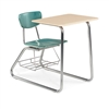 "Virco 3640BRM - Sled Based Combo Desk with 18"" Hard Plastic Seat, 18"" x 24"" Hard Plastic Top, bookrack  (Virco 3640BRM)"