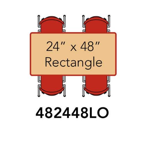 Rectangular Activity Table With Heavy Duty Laminate Top   Preschool Height  Adjustable Legs