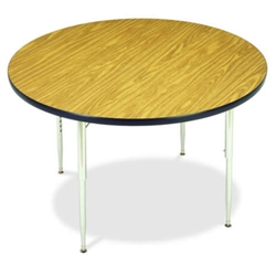 "Virco 4842RLOCHRM- Round 42"" Activity Table, 1 1/8 inch Thick Laminate Top  (Virco 4842RLOCHRM)"