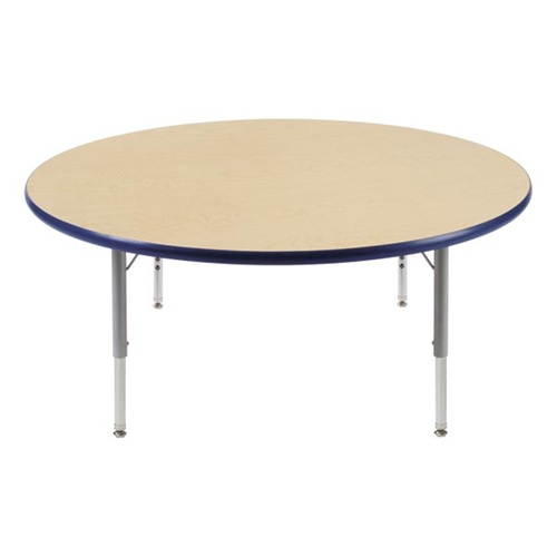 Round Activity Table With Heavy Duty Laminate Top   Preschool Height  Adjustable Legs