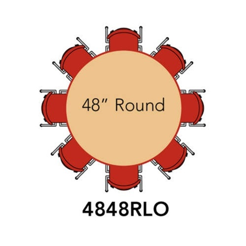 Round Adjustable-Height Mobile Preschool Activity Table w//Removable Organizer 48 Diameter