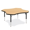 "Virco 48CLO48LO - Clover 48"" Color Banded Activity Table, 1 1/8 inch Thick Laminate Top, Preschool Height Adjustable Legs  (Virco 48CLO48LO)"