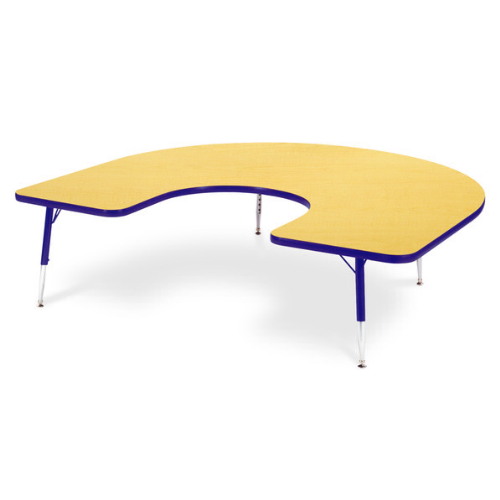 Horseshoe Activity Table With Heavy Duty Laminate Top   Preschool Height  Adjustable Legs