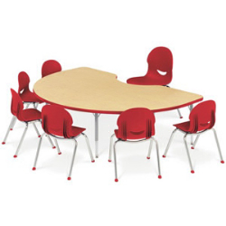 preschool table. Kidney Activity Table With Heavy Duty Laminate Top - Preschool Height Adjustable Legs
