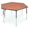"Virco 48TRAP84 - Trapezoid 42"" x 84"" Activity Table, 1 1/8 inch Thick Laminate Top  (Virco 48TRAP84)"