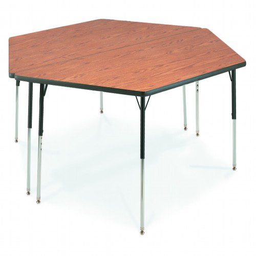 Virco 48trap84 for Trapazoid table