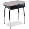 Virco 785CT - Student Desk with Collaborative Top Plastic Book Box