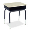 "Virco 785MBBM - Student Desk with Open Front Metal Book Box, 18"" x 24"" Hard Plastic Top  (Virco 785MBBM)"