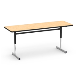 "Virco 872472 -  Table, 8700 series, computer table, cantilever leg, 24"" x 72"" x 1-1/8"" high  (Virco 872472)"