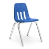"Virco 9016 - 9000 Series 4-Legged Chair with Steel Back Support - 16"" Seat Height  (Virco 9016)"