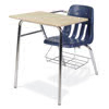 "Virco 9400BRM - Combo Desk with 18"" Seat, 18"" x 24"" Hard Plastic Top w/ Bookrack (Virco 9400BRM)"
